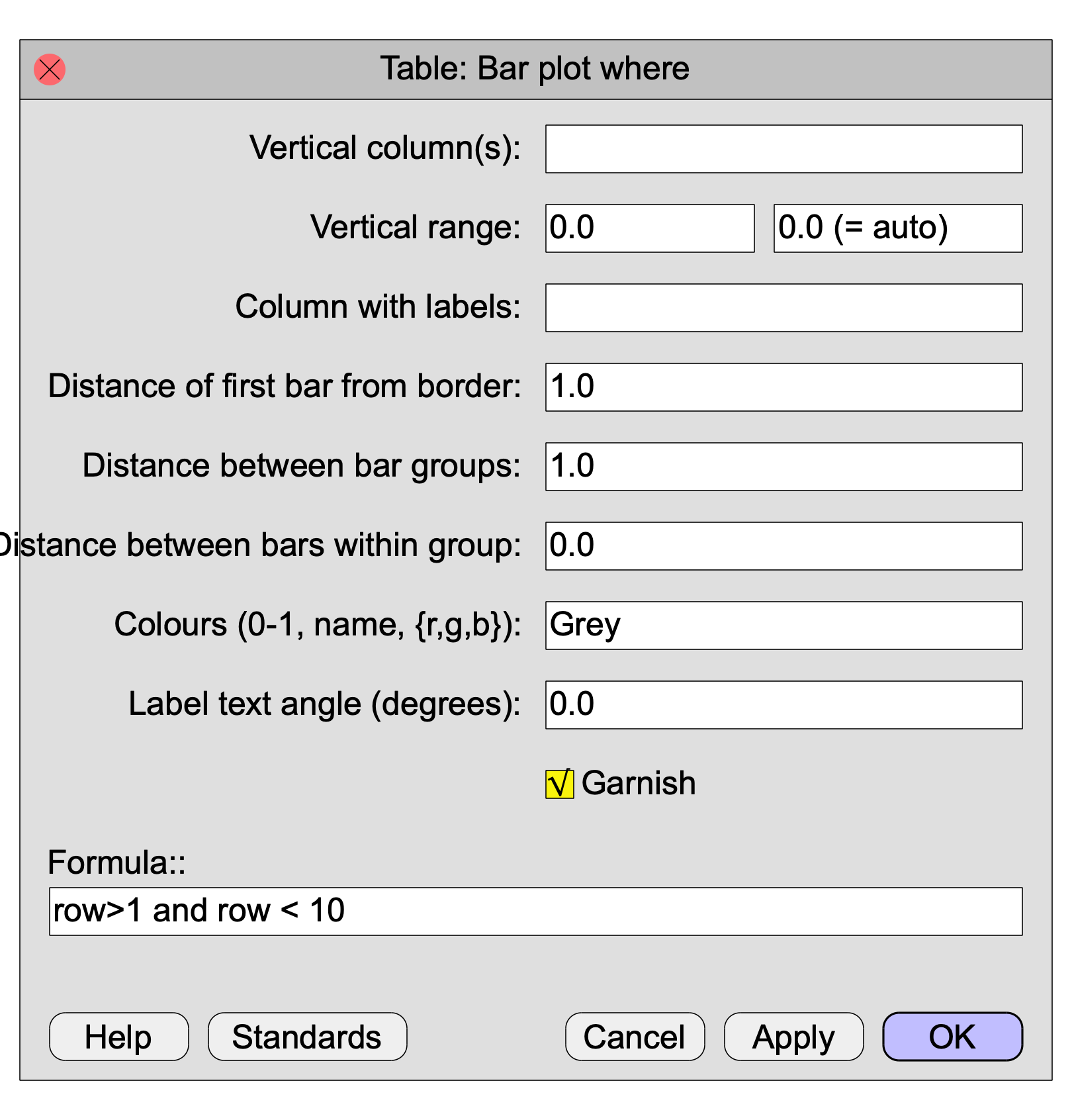 Table: Bar plot where